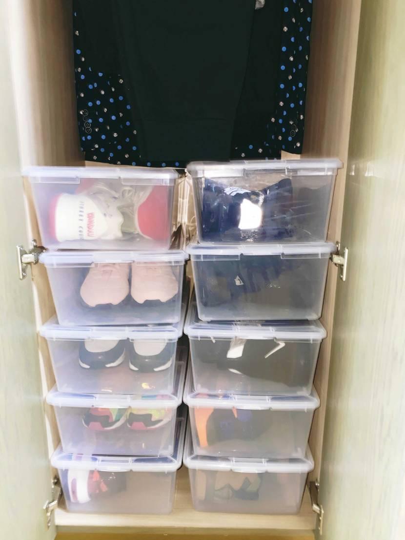 あと20ケースくらいでスニーカー整理整頓完了、箱は全て捨てました📦❤️
