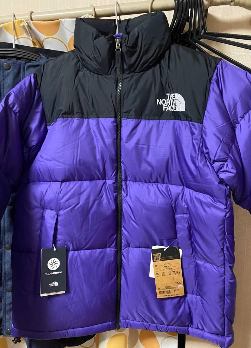 ノースのヌプシジャケット、ベスト、今季のパープルゲット✨👟  いま部屋の整理