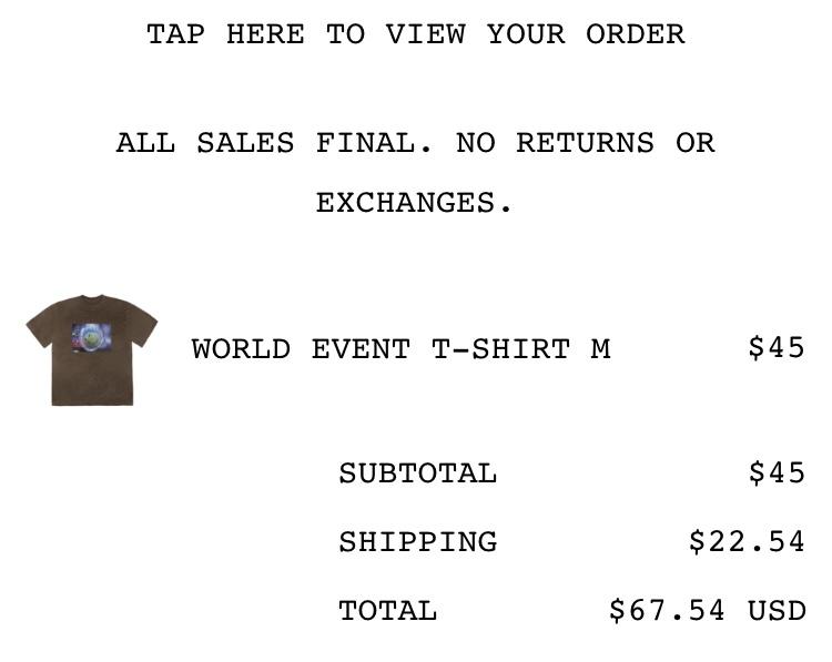 4月末にトラヴィスのサイトで頼んだTシャツがまだ届いてないのですが同時期に注文し