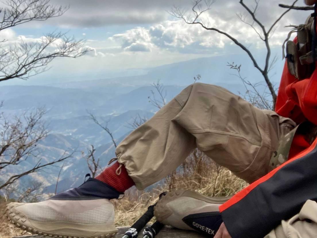 山行ってきました😆 ガレ岩場でのグリップはしっかりしてます❗️見た目のせいか下