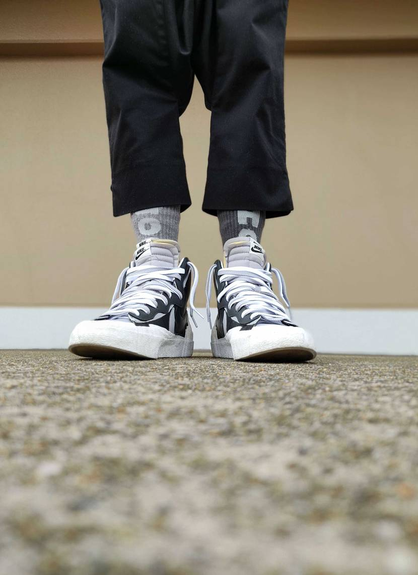 今日はsacai blazer mid クリスマスに嫁ちゃんから貰った靴下をルン