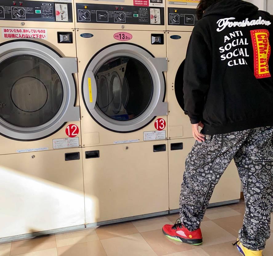 あけましておめでとうございます🐮 やっと休みなので仕事着を洗濯に😅