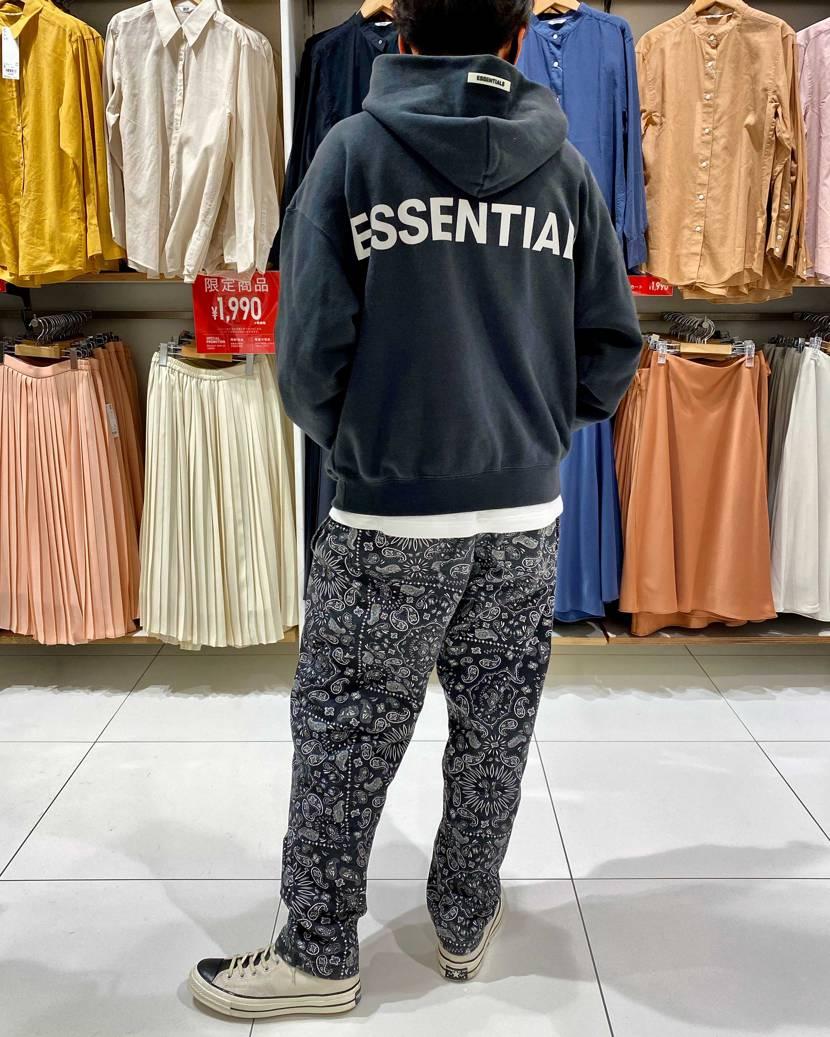 essentials × converse 履き心地えぇわ〜