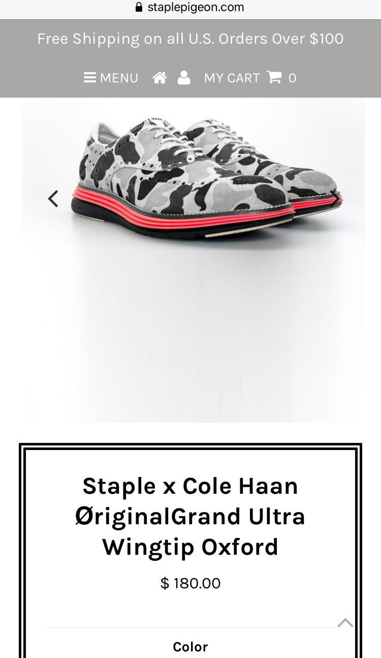 STAPLE x COLE HAAN  本家で売り出した時余ってたしどうせ日本