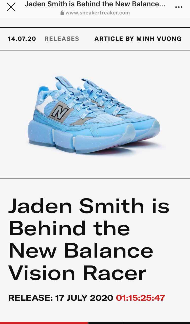 前にチラッと見た時すごい靴だなーと思ってたけど ウィルスミスの息子君のやつだっ