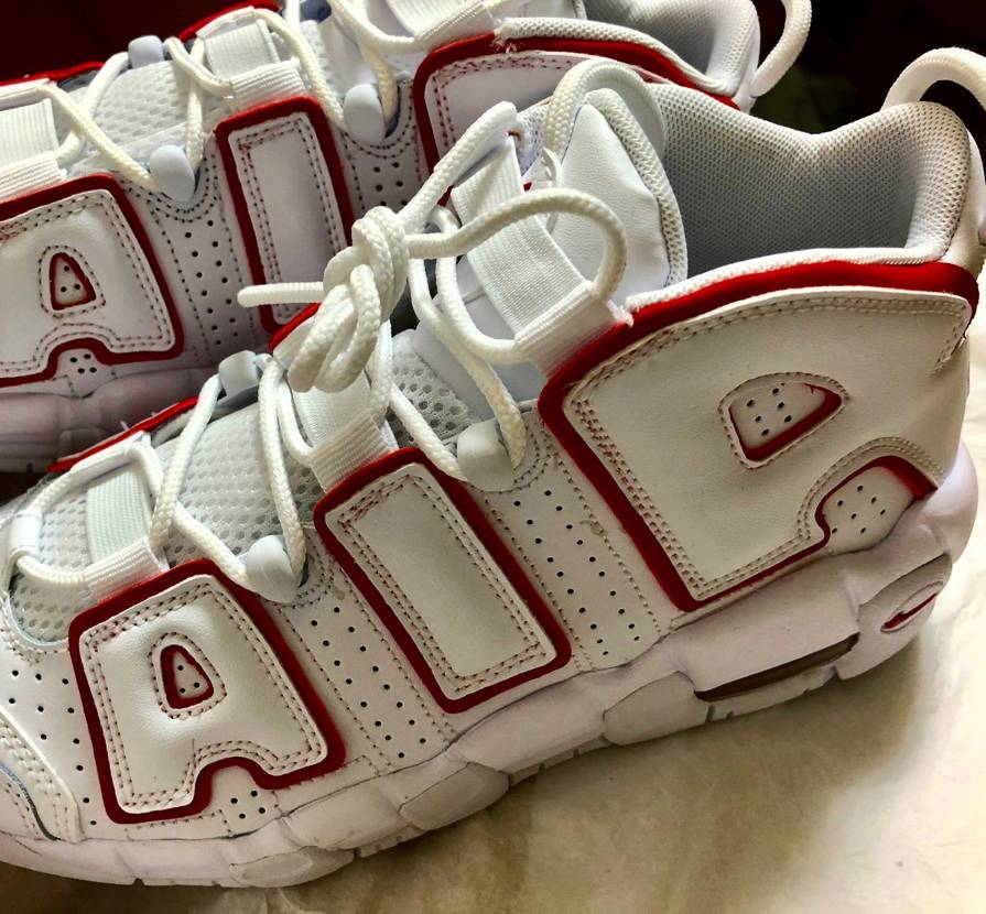 Nike Air More Uptempo / White Red My Co