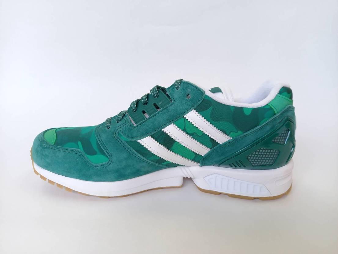 Bape x Undefeated x Adidas ZX 8000 Green