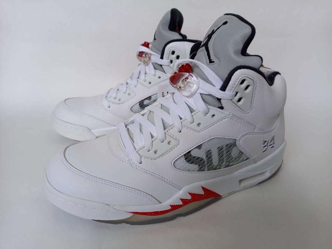 Nike Air Jordan 5 Retro Supreme White✨✨