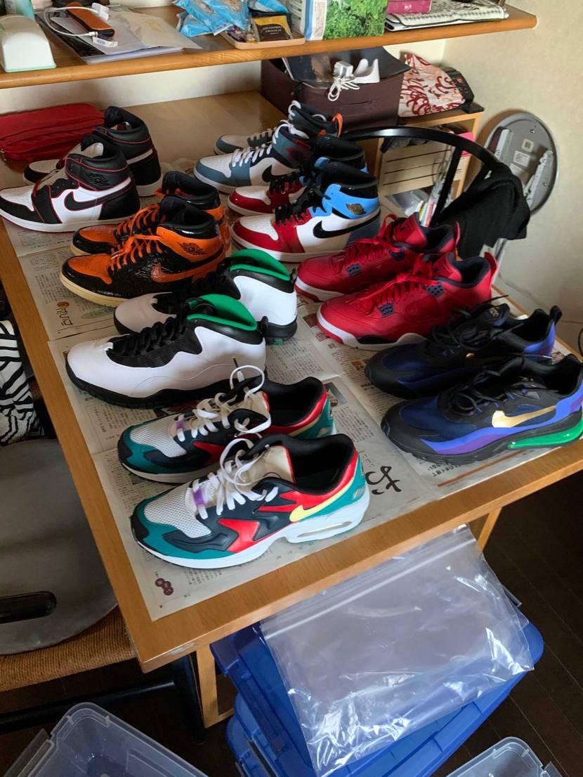 昨日は、靴の換気。 まだニワカ 学生ですが aj1集めていきやす。 しかしa