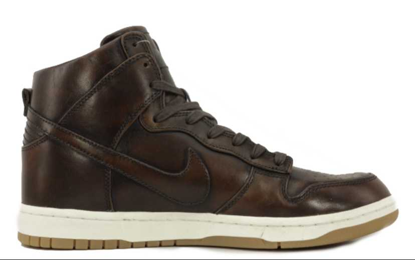 NIKE DUNK LUX BURNISHED LEATHER
