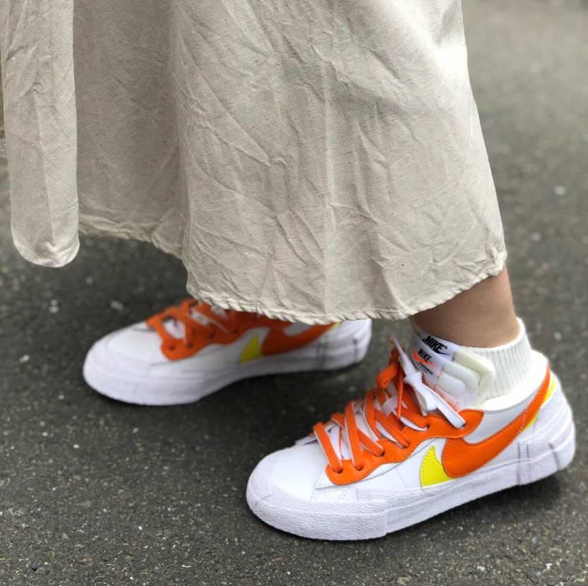 私は落選したけど、奥さんがガッテムしたナイキ×サカイ〜マグマオレンジを今日初履き