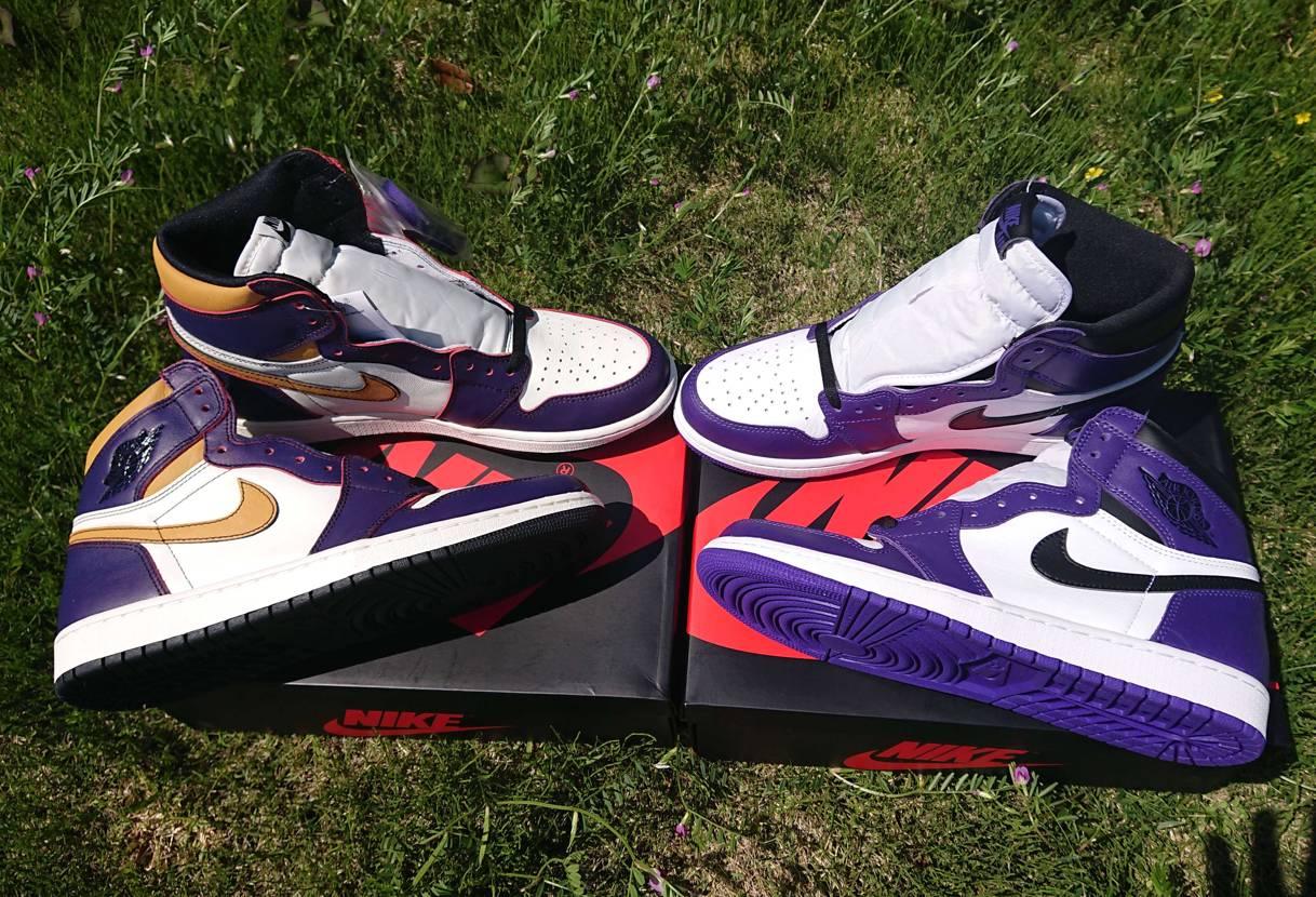 ようやくAJ1 Purple Bros.揃ったー😆🎉✨ Court Purple