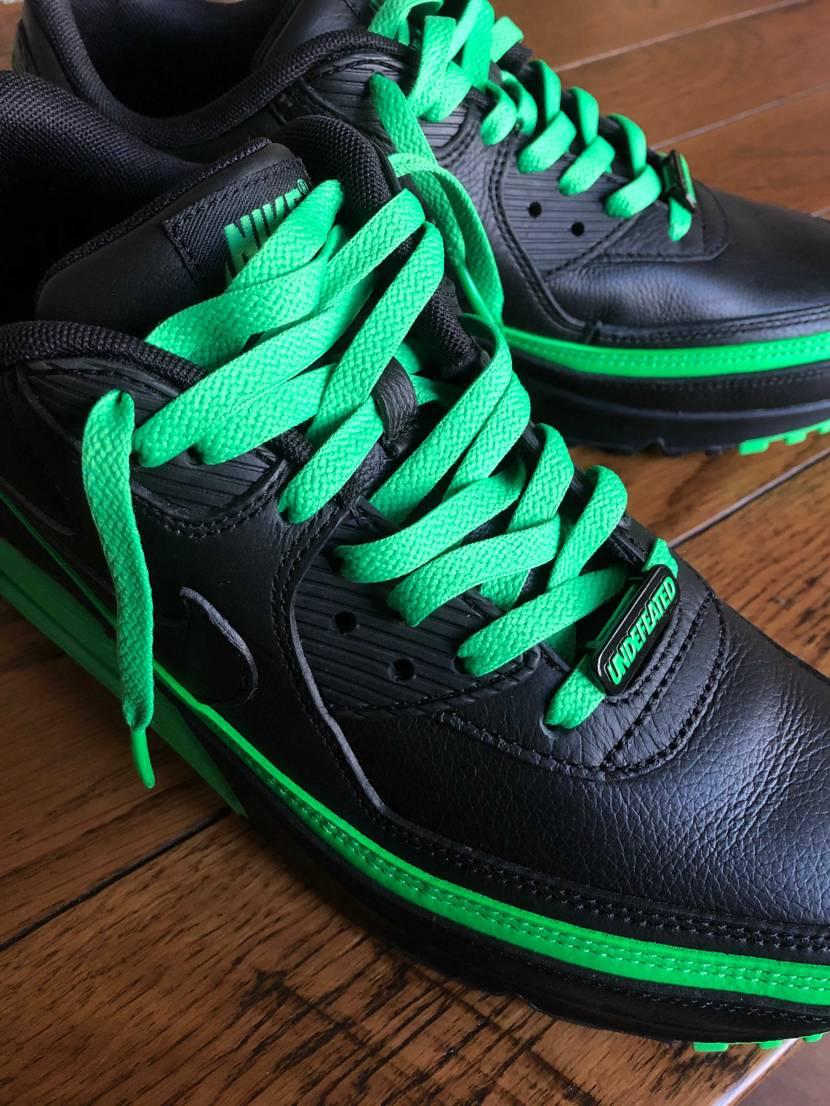 黒緑届いた!質感よろし!紐は緑のが良いかも。
