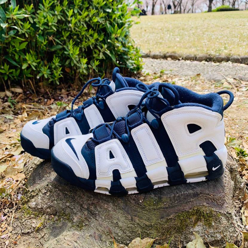 AIR MORE UPTEMPO OLYMPIC  先日人が少ない公園で花見