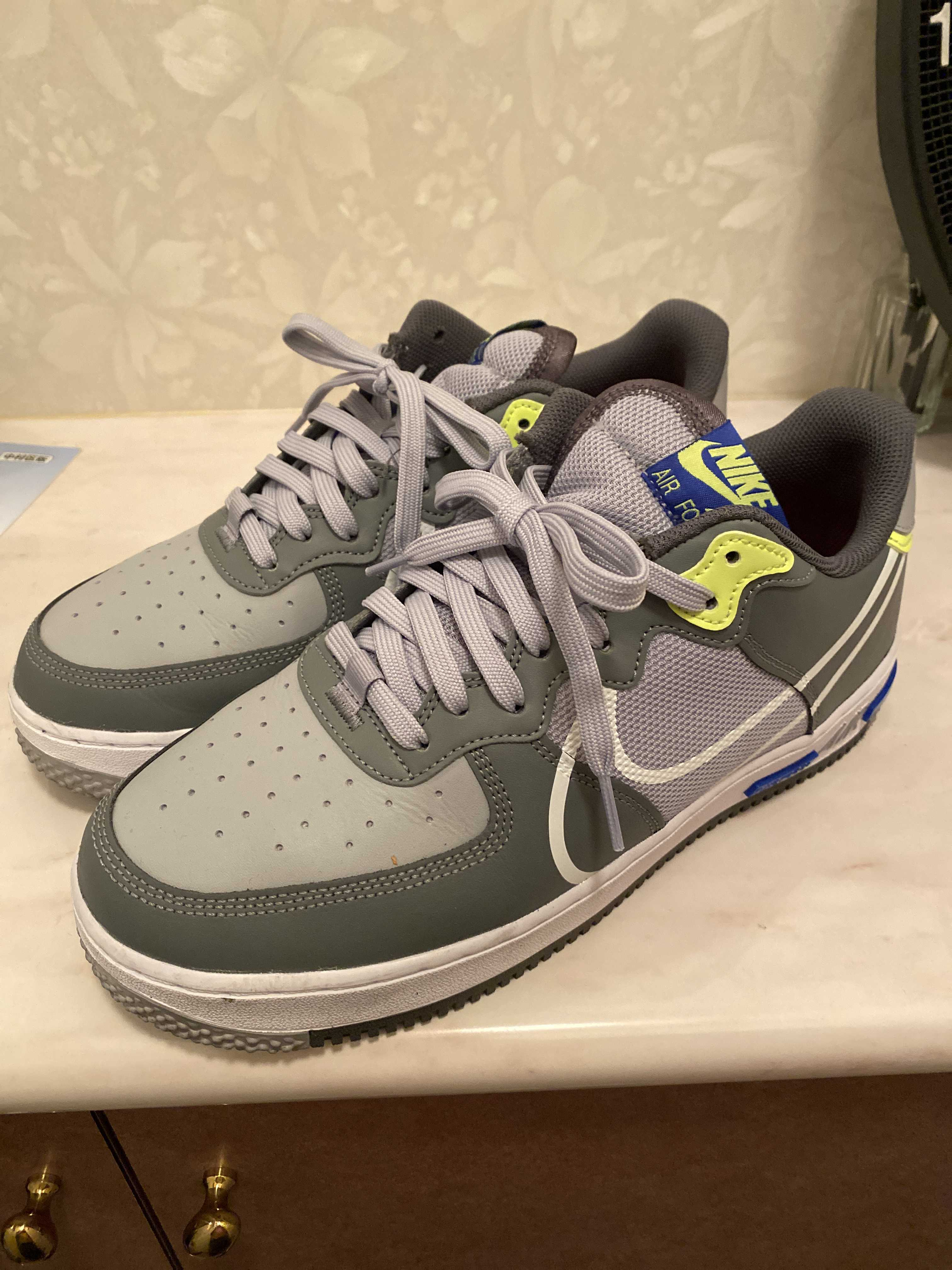 Nike Air Force 1 React Wolf Grey