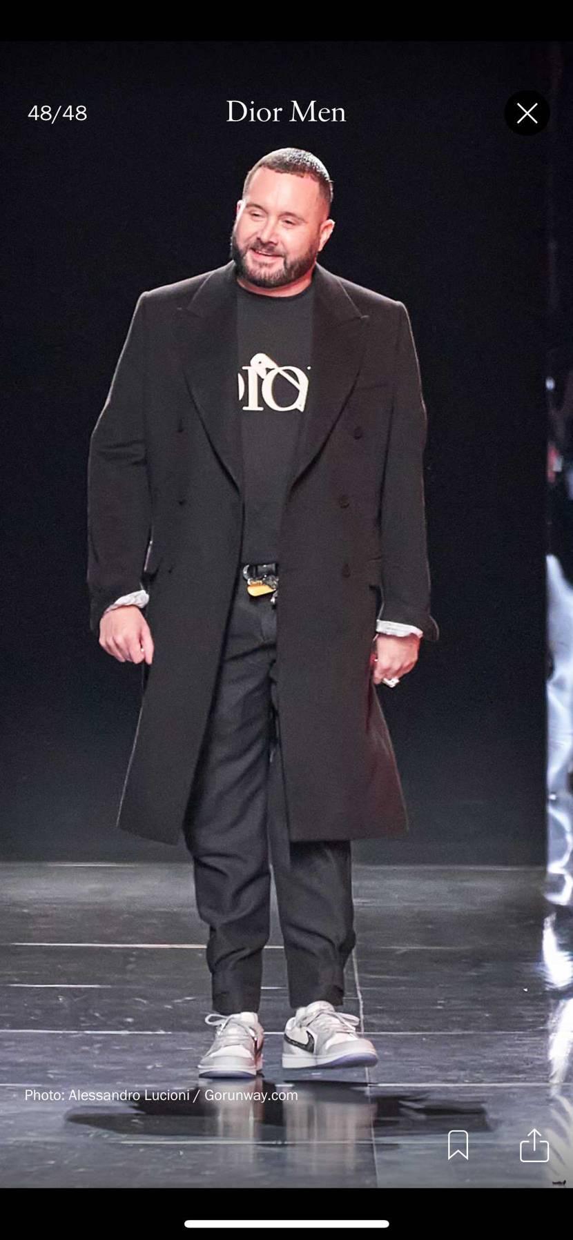 キムジョーンズは秋冬コレクションでlow履いてますね。