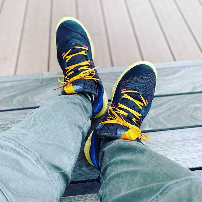 デルタ、kixsix waxedshoelaces yellow 160cm