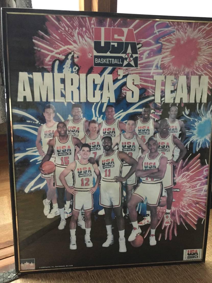 当時を知る貴重な一枚。 オリンピックモデルを履く前に撮られたポスター。 AJ