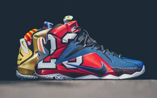 "Nike LeBron 12 ""What The"" ~ LEBRON XII SE MULTI-COLOR/PHANTOM-MTLC CACAO"