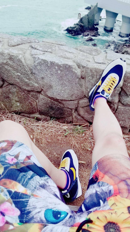 鳴門海峡大橋下でパシャリ📷 履きやすくてカッコいいとか最強か!!  #スニーカー