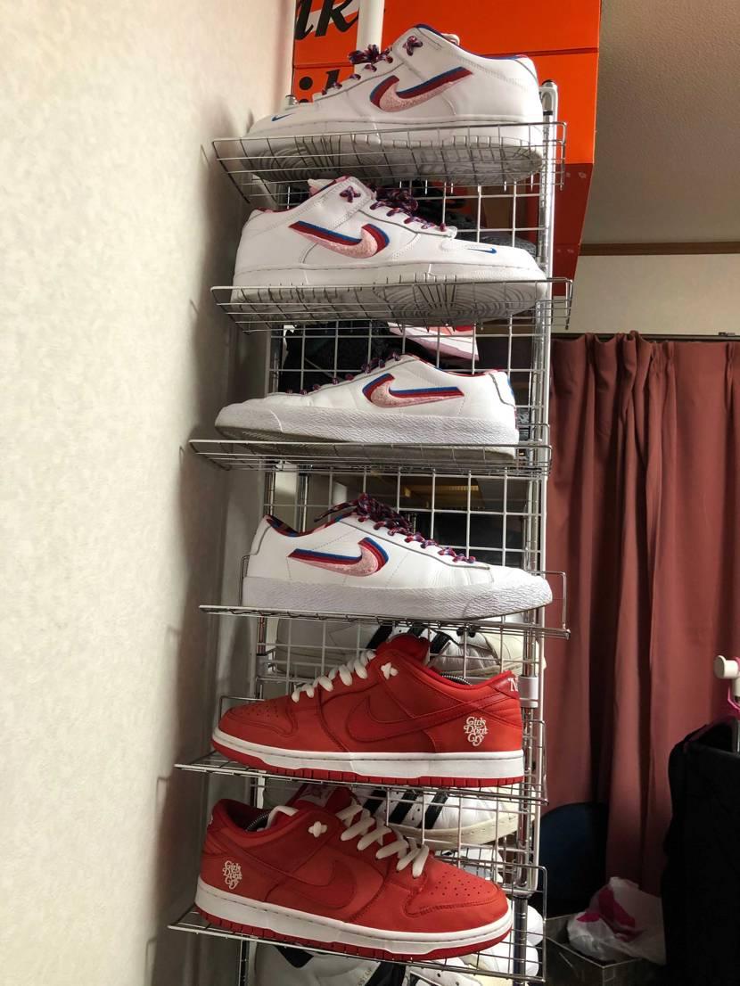 新しいスニーカーが来るので、置く場所を変えてみた。 新しい靴を届くまで、靴好き
