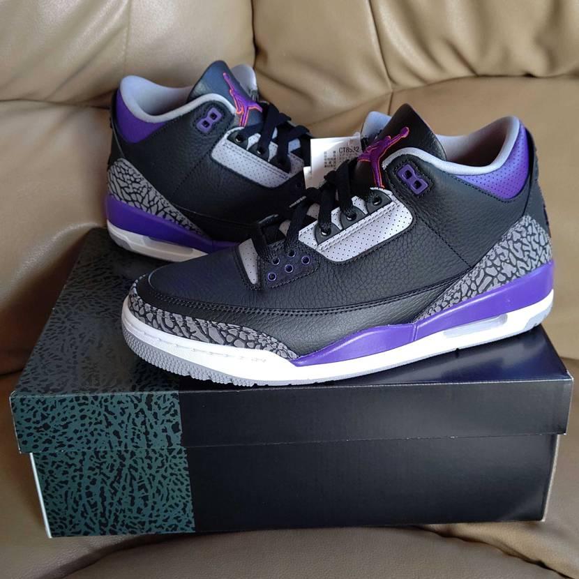 到着しました。 紫が入っているスニーカーを買ってみたいと思っていたところに以前か