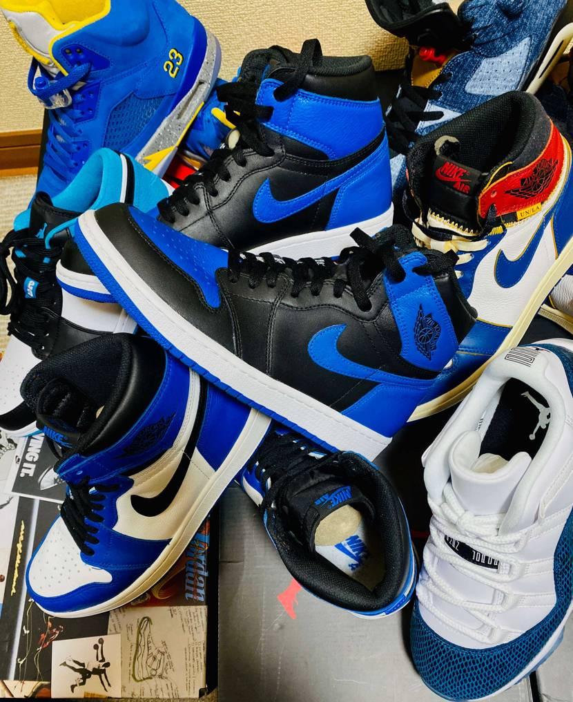 AJ1 青なので当然狙います。 青好きです。