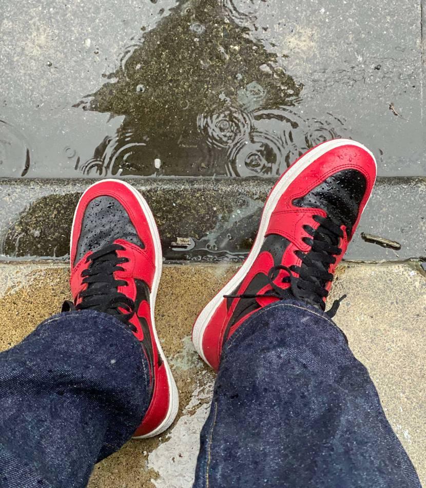すげぇ雨☔️ お気にいり履いて雑務のため外出。 雨は嫌すね。。。  あ、