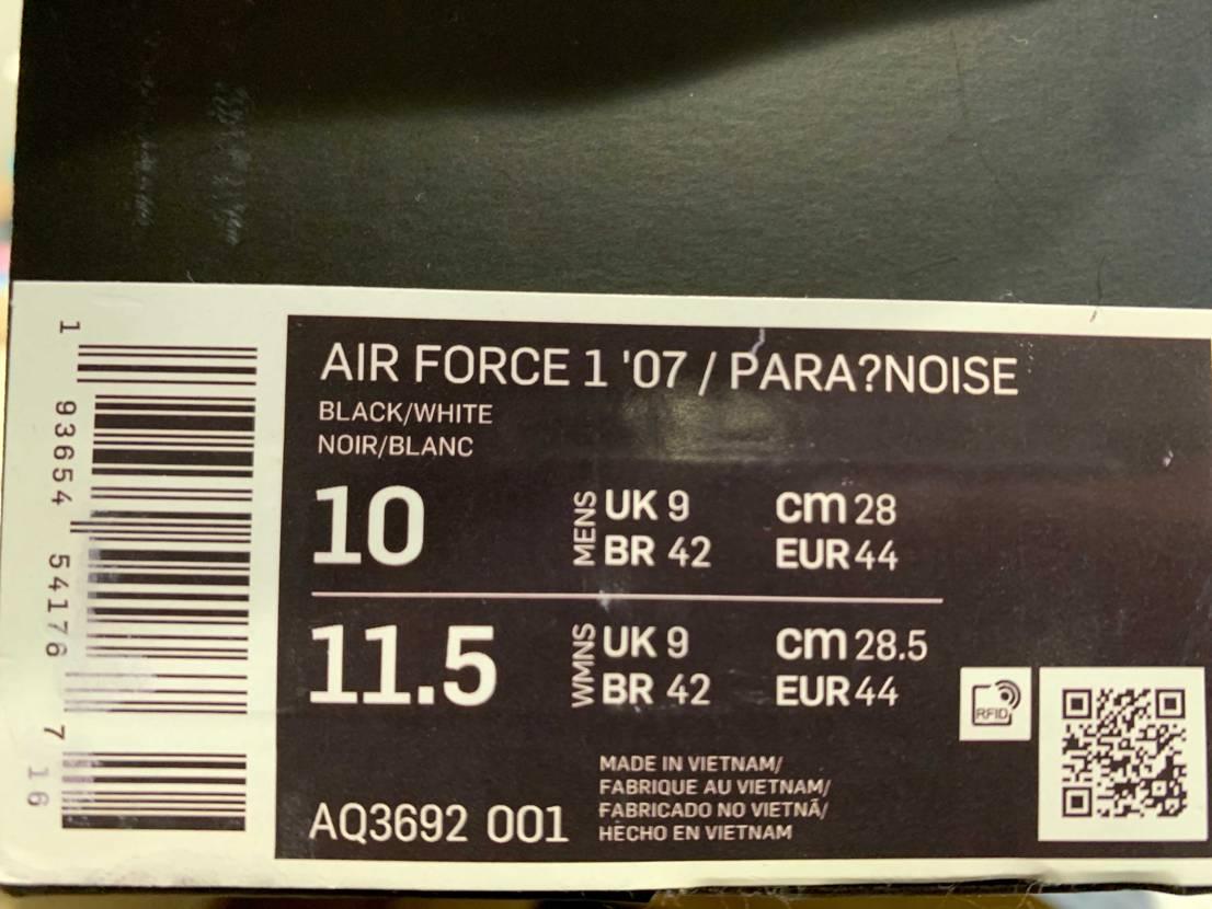 先日、フリマサイトでNIKE AIR FORCE 1 PAR