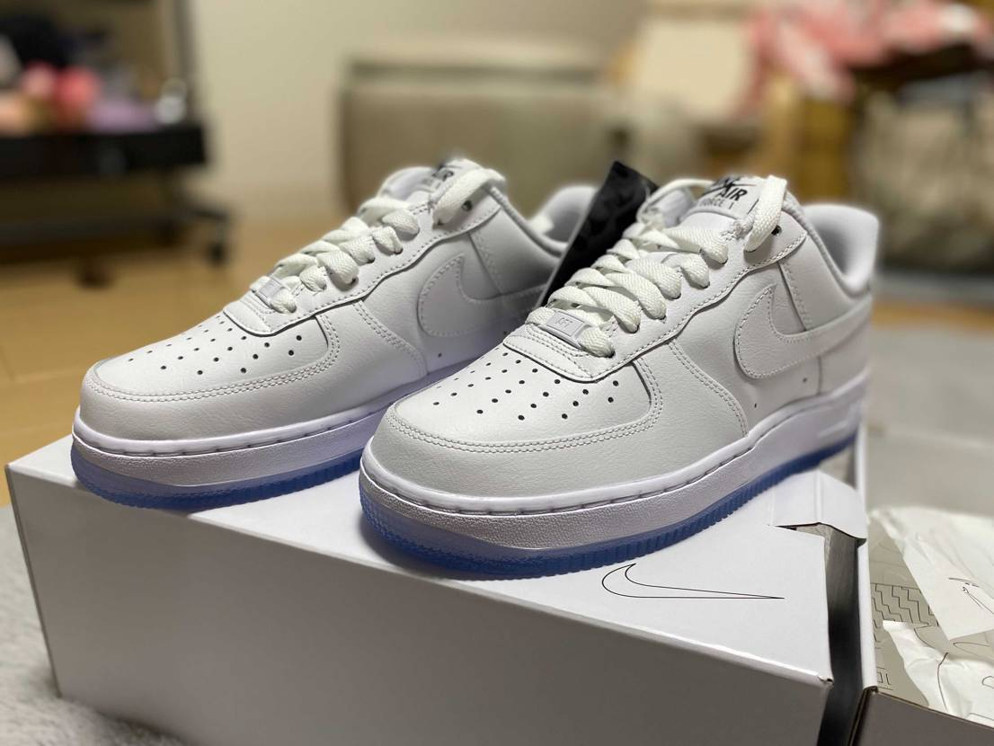 Nike by you Air Force 1クリアソールにしただけのやつ届き