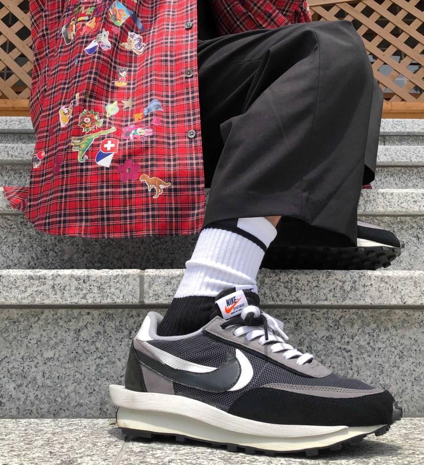 たまにはNIKEも履こ✨ ちょい季節感ズレとります。。足元だけ快適🌬 #つま