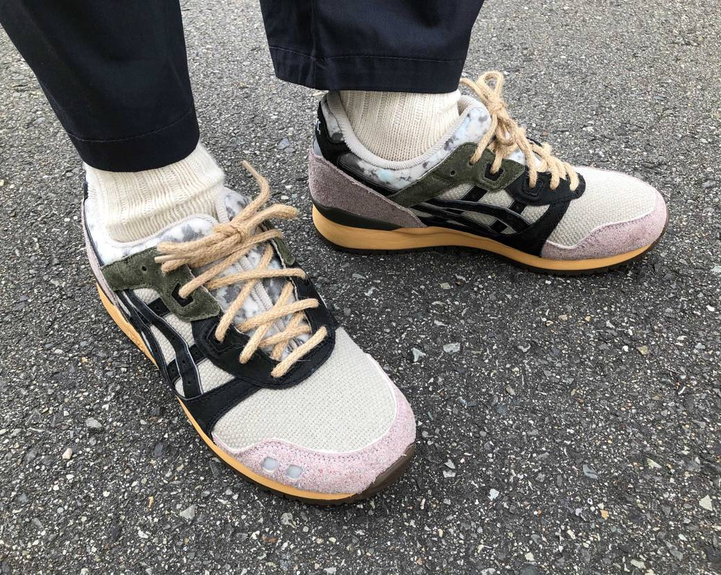 asics × SVD 初履きしました👟 靴下もうちょいソール寄りのカラーの方