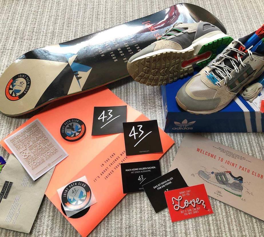 🛹と👟のセットがドイツから届きました! adidas ZX10000 × 43