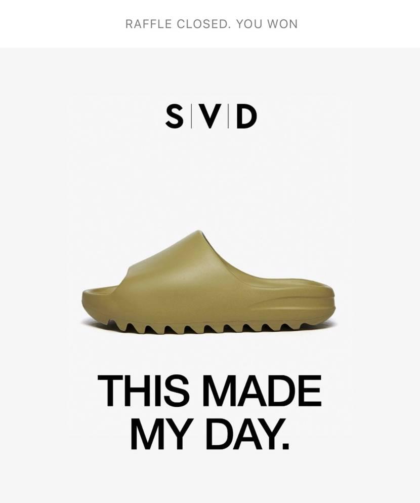 svdで初当選! しかし、adidasで当たってキャンセルし忘れてた〜。 こ