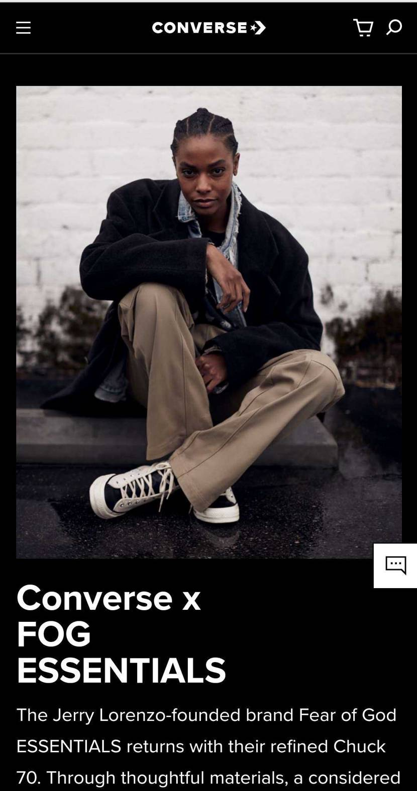 転送必須ですが、Converse USサイトでFear of Godが23時から