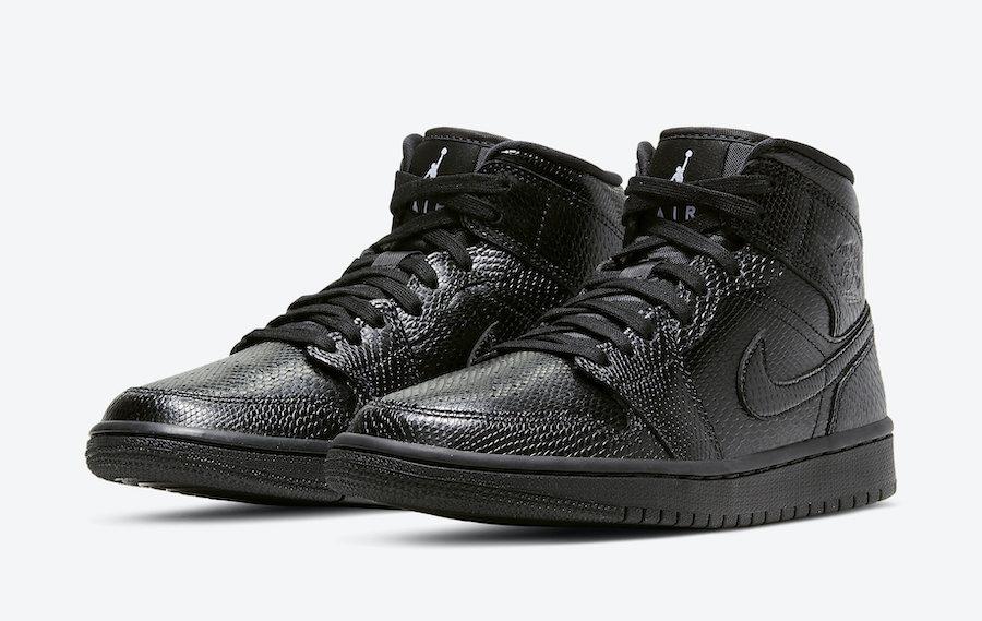 "Air Jordan 1 Mid ""Black Snakeskin"" 海外で近"