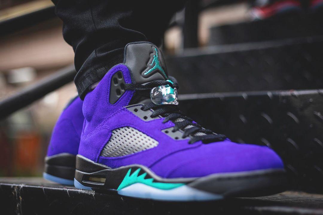 海外6/27らしい  Nike air Jordan 5 purple gr