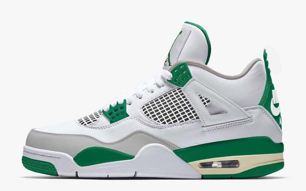 Nike Air Jordan 4 Pine Green  8月予定、メタリ