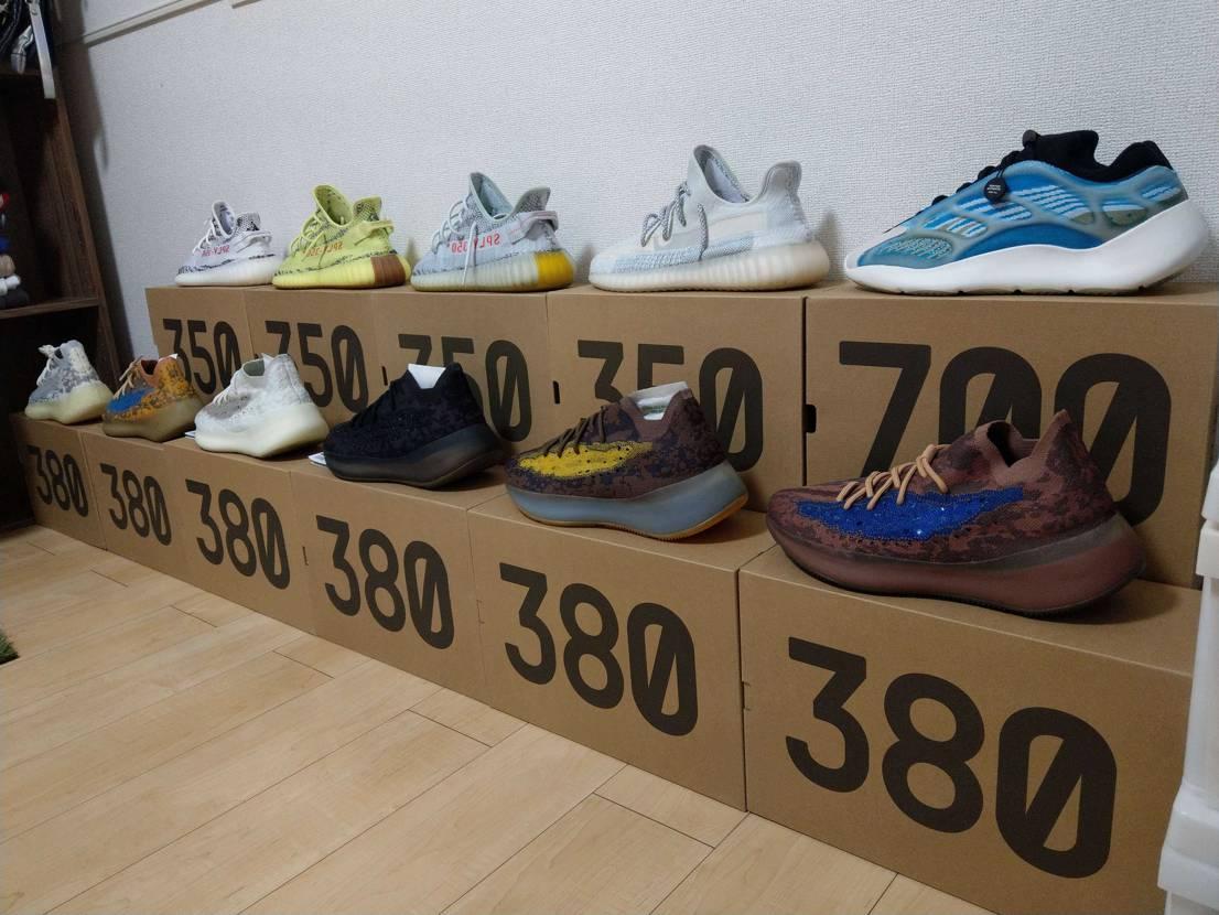 また増えたけど、置く場所が… #yeezyboost #adidas #boos