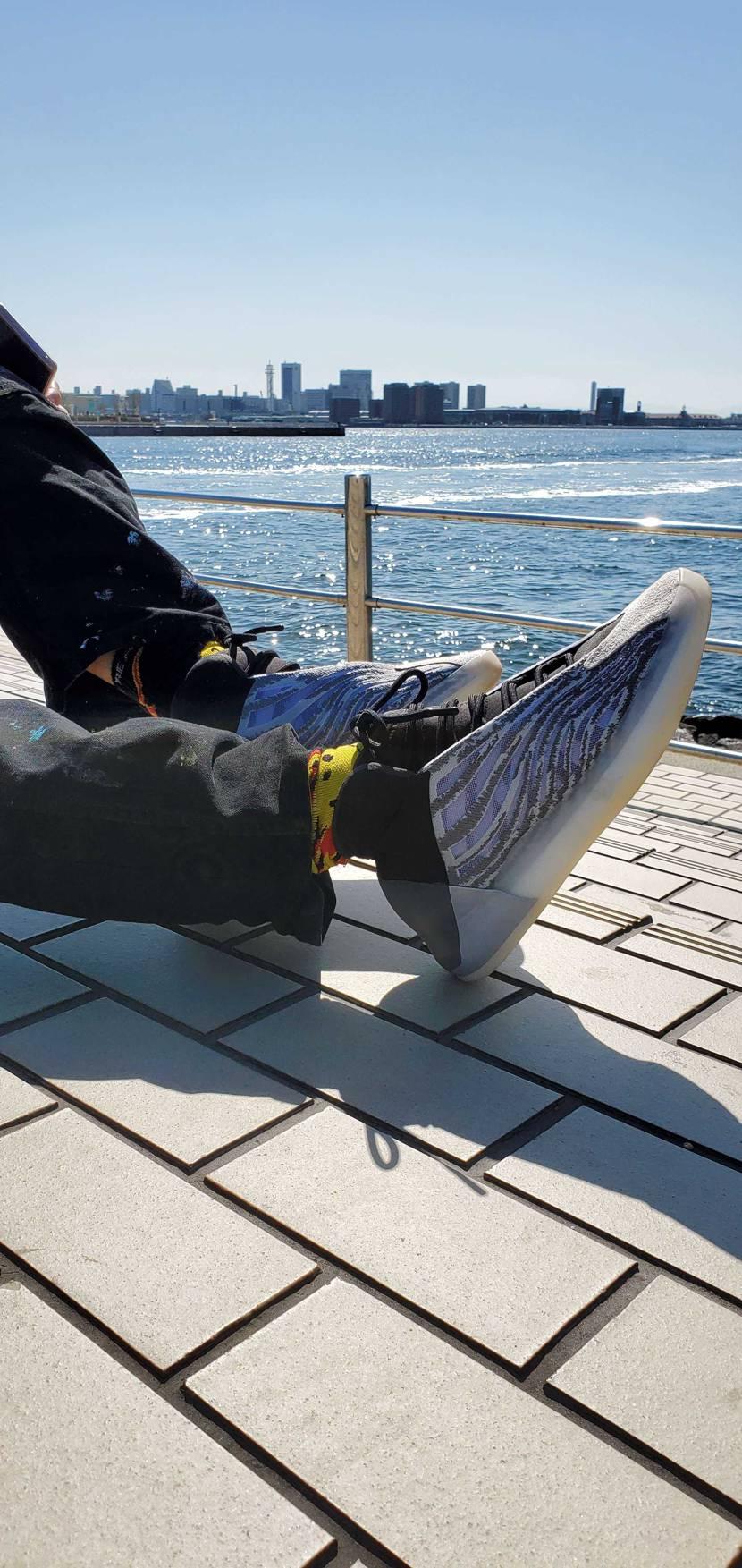 天気の良い日にYeezy☀️ #スニーカー好き #snkrdunk #スニーカー
