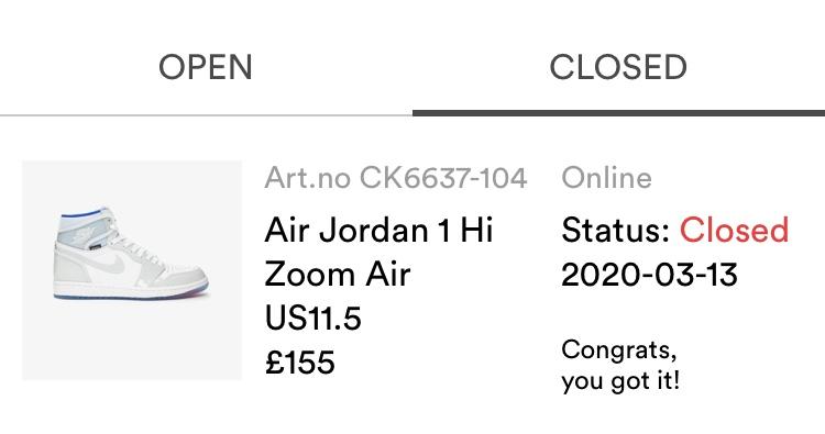 SNSでAir Jordan 1 Zoom Racer Blueゲットしました!