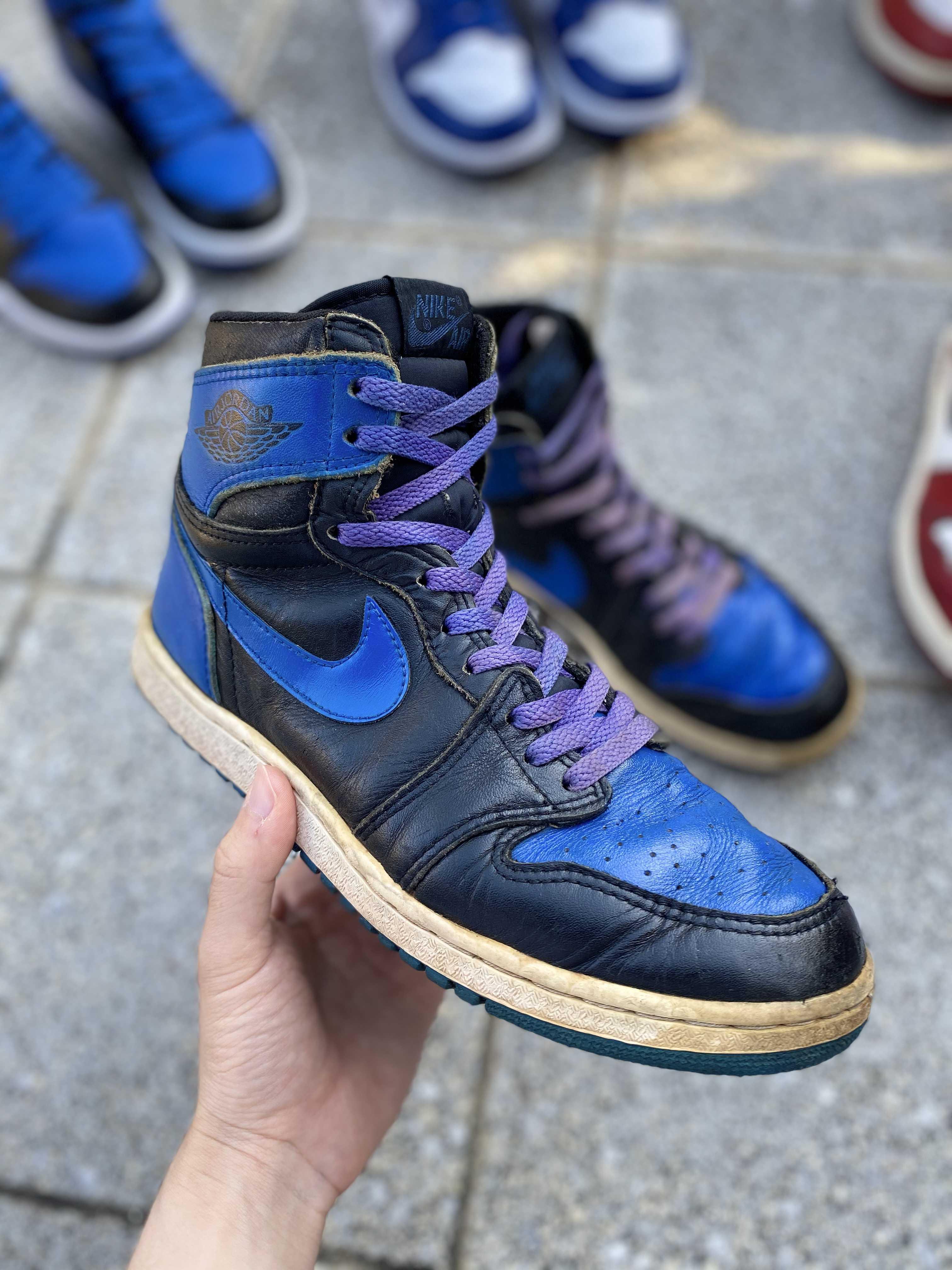 AIR JORDAN HIGH Black/Royal Blue
