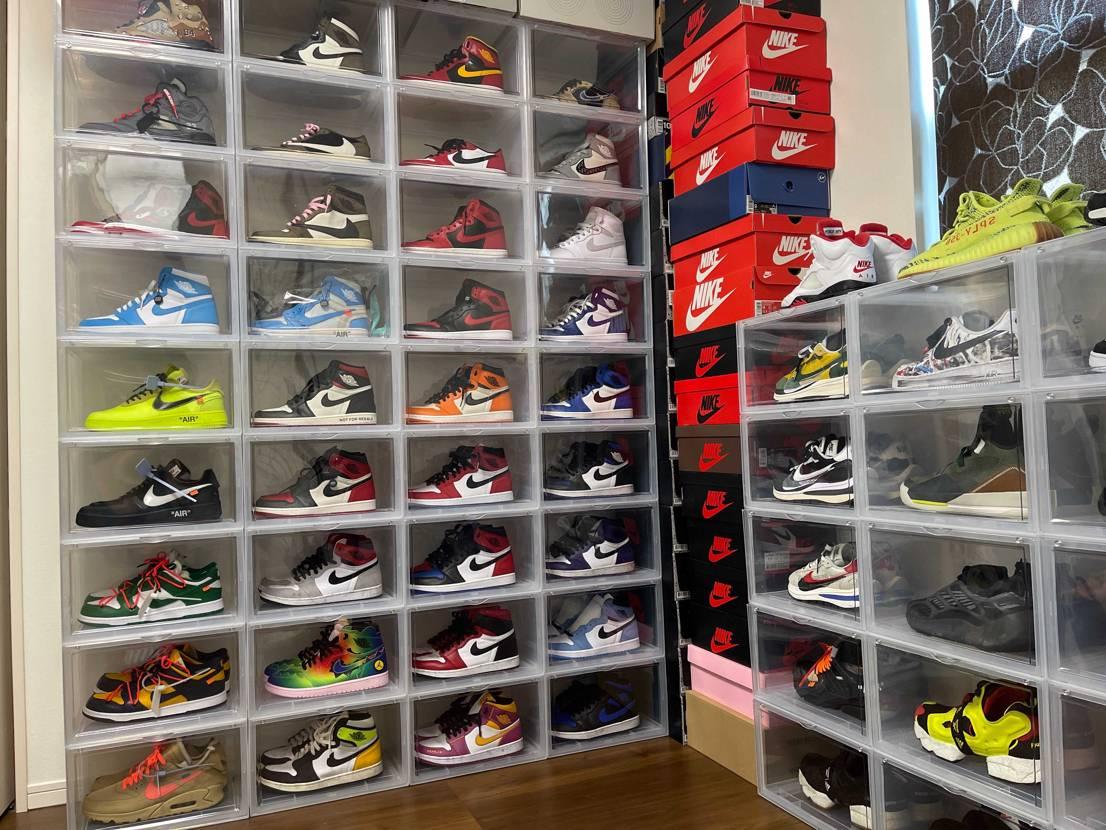 朝から靴整理👟 AJ1コレクターにだいぶなってきた気がする^_^ 後はChi
