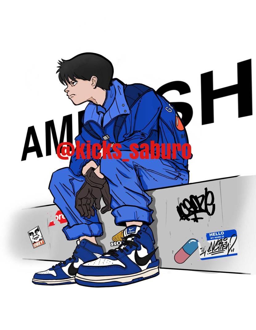 AMBUSHダンクのコンセプトが暴走族とのことで、、  アキラの金田くんに履