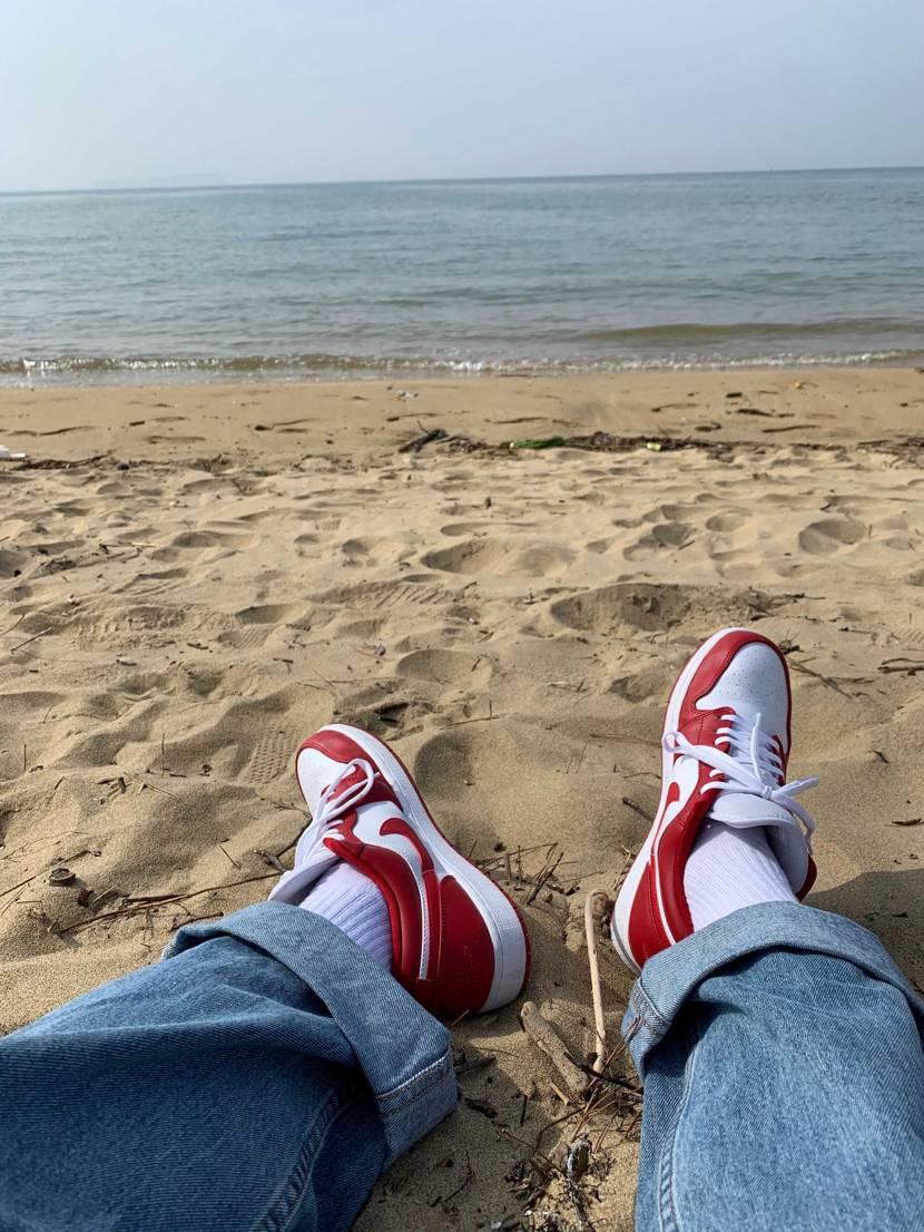 インラインは何も気にすることなく砂浜行けるので素晴らしいです🏖