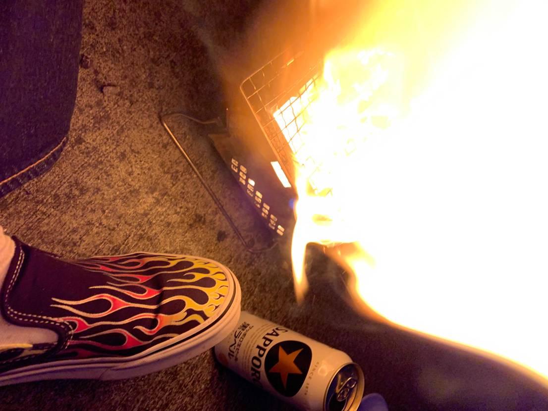 ホルモンキャンプファイヤー(BBQ)しました😂