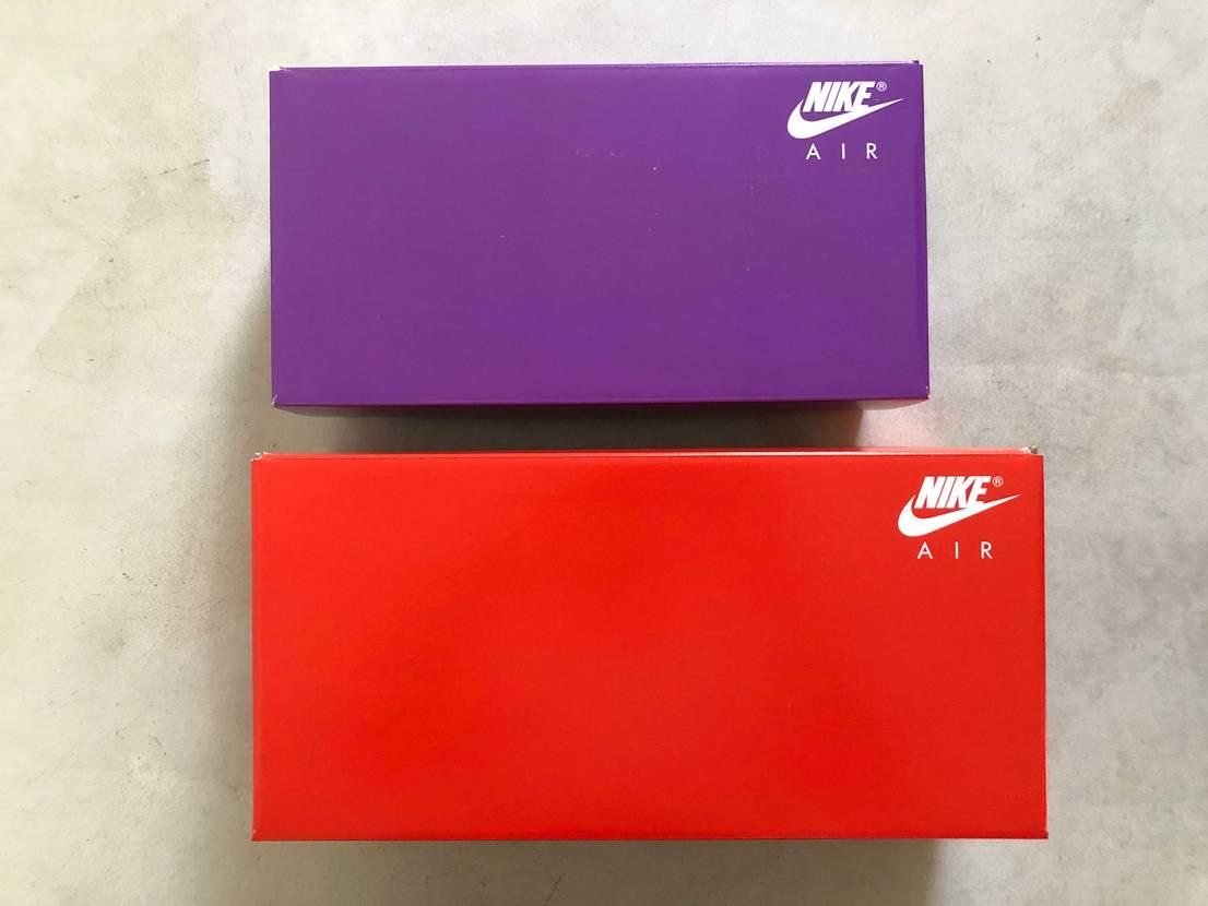 思いのほか箱のサイズが違った。スニーカー自体は色違いなだけなんだけどね。 ぎゅ