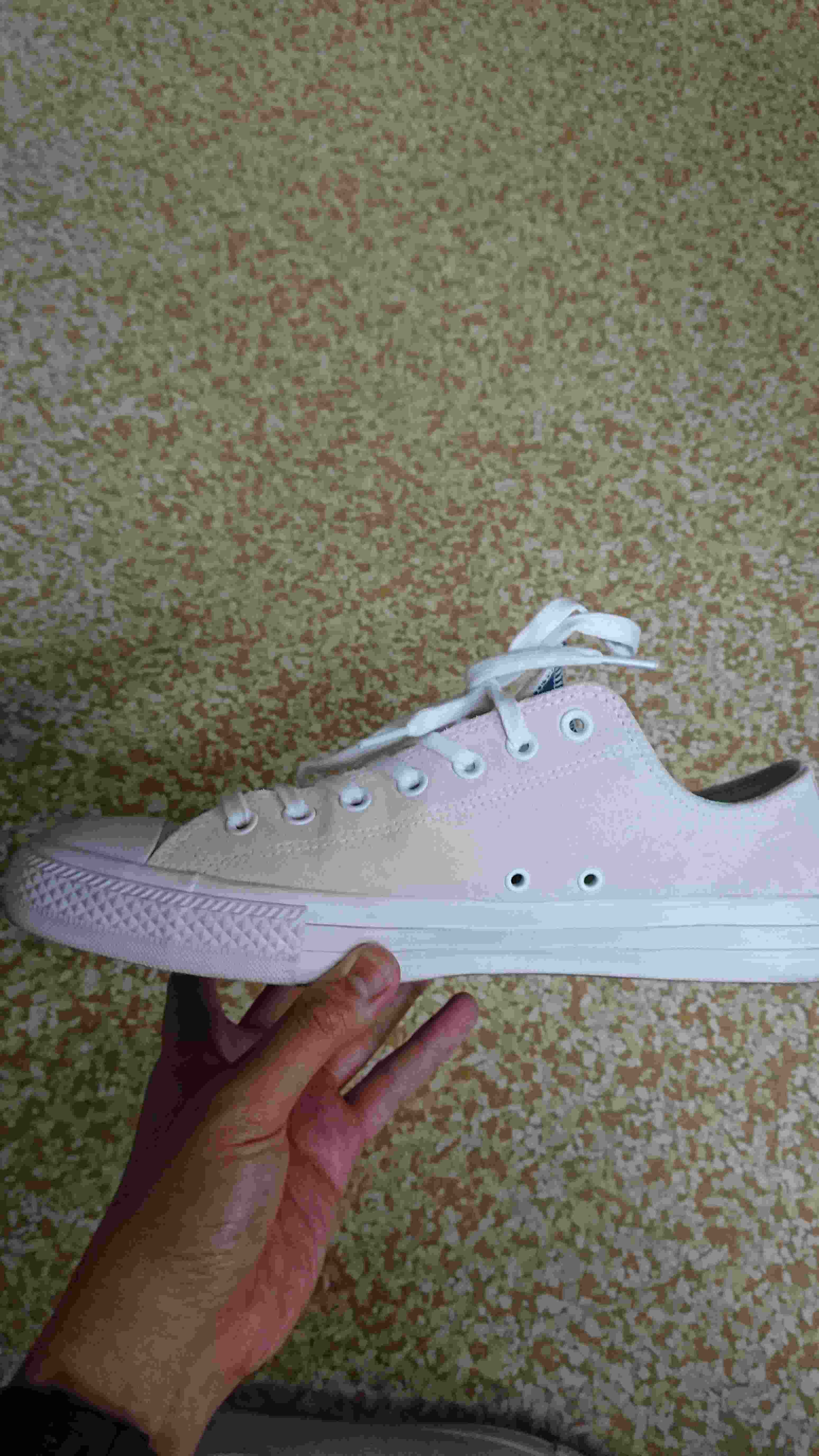 converse ctas white suede  珍しい、オールホワイトのス