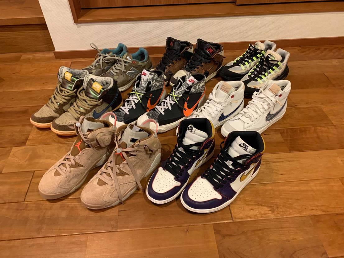 コラボ系スニーカーコレクション!! 気付いたらハイばっかり、、、、  しば