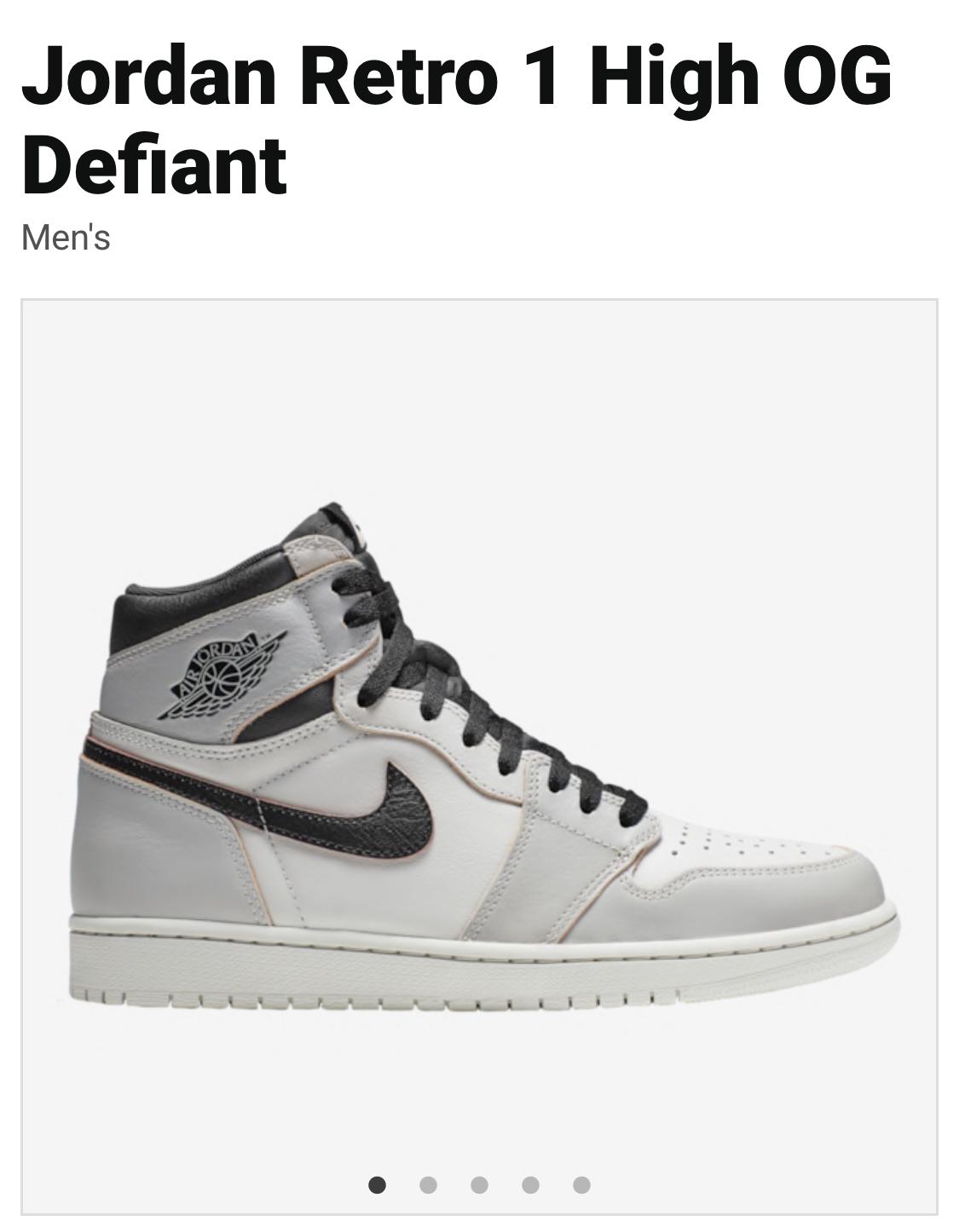 Nike Air Jordan Retro 1 High OG Defiant